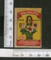 India 1950's Flower Vase Boquet Flora Brand Match Box Label # MBL044 - Matchbox Labels