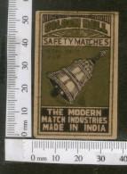 India 1950's Golden Bell Brand Match Box Label # MBL093 - Matchbox Labels