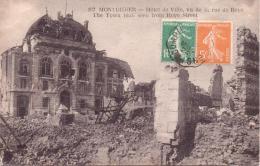 ALTE AK  MONTDIDIER / Dep. Somme  - Hotel De Ville, Vu De La Rue De Royc -  1924 Gelaufen - Montdidier