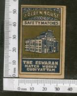 India 1950's Golden House Brand Match Box Label # MBL250 - Matchbox Labels