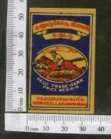India 1950's Horse Ridder Brand Match Box Label # MBL243 - Matchbox Labels