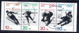 ALLEMAGNE   N° 544/47A  Oblitere 1er Jour   ( Sans Millesime) Jo 1972 Saut A Ski Patinage Hockey Sur Glace