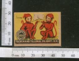 India 1950's Jokers Smoking Brand Match Box Label # MBL118 - Matchbox Labels
