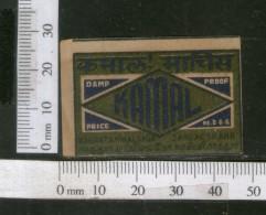India 1950's Kamal Brand Match Box Label # MBL110 - Matchbox Labels