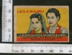India 1950's Laila Majnu Man Women Brand Match Box Label # MBL108 - Matchbox Labels