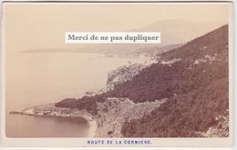 CDV ROUTE DE LA CORNICHE Entre Nice Et Menton C. 1865.  ALEO ET DAVANNE. TRÈS RARE.  Photo. - Oud (voor 1900)