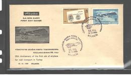 "TURKEY, 1969 ""1914 Airplane - Prince CELALEDDIN"" FDC - 1921-... Republik"