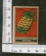 India 1950's Pineapple Fruit Brand Match Box Label # MBL014 - Matchbox Labels