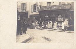 CHATELLERAULT : Devanture De L'Epicerie FELIX POTIN  BOURDEAU - PICHON Puis PICHON - Superbe Carte Photo ! - Tiendas