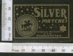India 1950's Silver Horse Brand Match Box Label # MBL117 - Matchbox Labels