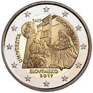 "ESLOVAQUIA  2€ 2.017  2017 ""ISTROPOLITANA"" Bimetalic UNCirculated  T-DL-12.032 - Slovaquie"