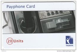 U.A.E. - Thuraya Cardphone, Thuraya Telecom(Mobile Satellite Communications) Telecard 20 Units, Sample(no Chip, No CN) - Telephones