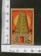 India 1950's Temple Brand Match Box Label # MBL147 - Matchbox Labels