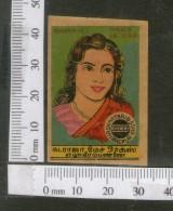 India 1950's  Women Lady Anarkali Brand Match Box Label # MBL195 - Matchbox Labels