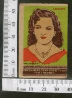 India 1950's Women Lady Laxmi Brand Match Box Label # MBL150 - Matchbox Labels