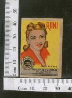 India 1950's Women Lady Rani Brand Match Box Label # MBL220 - Matchbox Labels