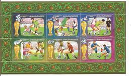 1986 Libya World Cup Football Miniature Sheet Of 6  MNH - Libyen