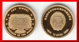 **** COREE DU NORD - NORTH KOREA - 10 WON 2009 ABU SIMBEL - OR - GOLD - NEUVE SOUS CAPSULE **** EN ACHAT IMMEDIAT !!! - Korea, North