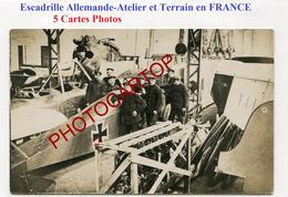 Escadrille Allemande-Terrain D'Aviation En France-Avions-Fliegerei-5x CP PHOTOS All.-Guerre 14-18-1 WK-Militaria- - 1914-1918: 1st War