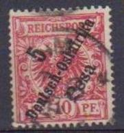 GERMANIA AFRICA ORIENTALE TEDESCA  1896 ORDINARIA YVERT. 8 USATO VF - Colonia: Africa Oriental