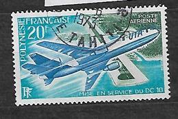 FRENCH POLYNESIA, POLYNESIE  YVERT PA 74 VF USED, AIRPLANE, AVION. - Poste Aérienne