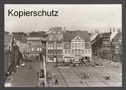 ÄLTERE POSTKARTE BORNA KARL-MARX-PLATZ Briefmarke Leipziger Messe Ansichtskarte Postcard Cpa AK - Borna