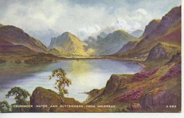 VALENTINES ART A985 - CRUMMOCK WATER AND BOTTERMERE FROM MELBREAK - E H THOMPSON - Cumberland/ Westmorland