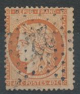 Lot N°33958  Variété/n°38, Oblit étoile Chiffrée 22 De PARIS(R. Taibout),  Taches Coté Perles NORD EST Et Sous Le Menton - 1870 Siege Of Paris