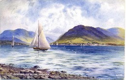 VALENTINES ART A1133 - YACHTING ON THE CLYDE, GOUROCK - E H THOMPSON - Renfrewshire