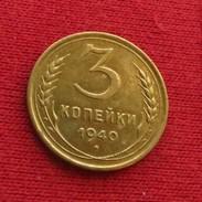 Russia USSR 3 Kopeks 1940 Y# 107 Urss Russie Sowjetunion - Russland