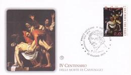Vatikan, 2010, 400. Todestag Des Italienischen Malers Caravaggio, Mi: 1668 Gemälde: Grablegung Christi - FDC