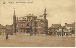 FRAMERIES : Hotel Communal Et Grand Place - Cachet De La Poste 1926 - Frameries