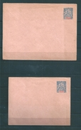 Colonie 2 Entiers De Guadeloupe Avec N°43 Neufs - Unused Stamps
