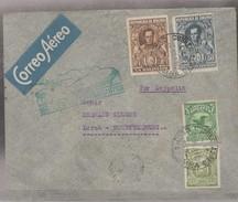 O) 1932 BOLIVIA, ZEPPELIN, TRANSATLANTICO, SIMON BOLIVAR -1 BOLIVIANO, ANTONIO JOSE DE SUCRE - 50 CENTAVOS, COVER TO GER - Bolivia