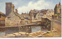 VALENTINES ART A1409 - OLD MILL POND AND CHURCH, SWANAGE - Swanage