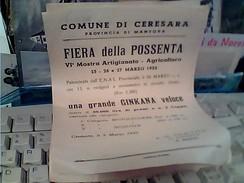 CERESARA VOLANTINO PROGRAMMA FIERA DELLA POSSENTA 1955    FY11233 - Programmi