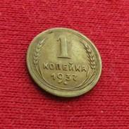 Russia USSR 1 Kopek 1937 Y# 105 Urss Russie Sowjetunion - Russland