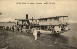 UNIQUE   LE VAPEUR KEMPENAER A LEOPOLDVILLE     CONGO   BELGE    Bâteaux - Paquebots - Kinshasa - Leopoldville