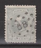 NVPH Nederland Netherlands Pays Bas Niederlande 22 CANCEL LEIDEN (68) : Koning King Roy Rey Willem III 1872 - Periode 1852-1890 (Willem III)