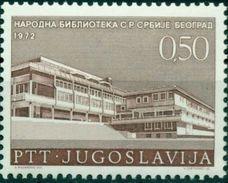 Yugoslavia 1972 Serbian National Library MNH - 1945-1992 République Fédérative Populaire De Yougoslavie