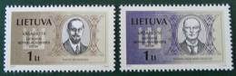 JOURNEE DE L´INDEPENDANCE 2002 - NEUFS **  - YT 679/80 - MI 781/82 - Lithuania