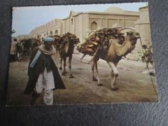 CPSM Animée - Holztransport In KANDAHAR - AFGHANISTAN - Afghanistan