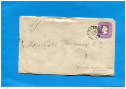 MARCOPHILIE -CHILI-lettre Entier Postal-5 Cent Colon Cad BULNES-1896>  Conception - Chile
