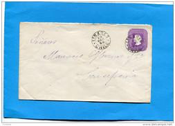 MARCOPHILIE -CHILI-lettre Entier Postal-5 Cent Colon Cad LINARES  -1898>  Conception - Chile