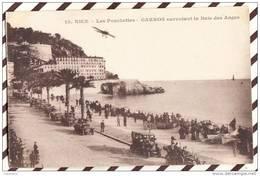 U1146 NICE LES PONCHETTES GARROS SURVOLANT LA BAIE DES ANGES  1918  2 SCANS - Monuments, édifices