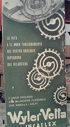Cartoncino Esterno Cartina Stradale .con Pubblicita OROLOGI WYLER VETTA  FIAT E BIRO PENNA A SFERA 1950 Circa  FY11244 - Carte Stradali