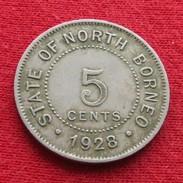 British North Borneo 5 Cent 1928 - Otros – Asia