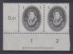 Mathematik 152) DDR 1950 Mi# 261 ** DZ Druckereizeichen: Leonard EULER, Mathematiker, Physiker - Other