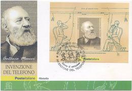 2003 ITALIA FOGLIETTO MARCONI 0,52 CARTOLINA SPLENDIDA CON ANNULLO COMMEMORATIVO (7050) - Altri