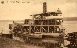 CONGO BELGE ( BATEAU A VAPEUR  LE S W YSER  )   CONGO BELGE    Bâteaux - Paquebots - Congo Belga - Otros